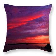 After The Storm Sunset Throw Pillow