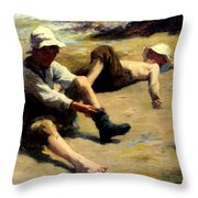 After The Swim Throw Pillow
