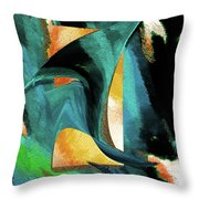 After The War Abstract Throw Pillow