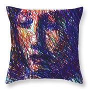 After Vermeer - Clio Throw Pillow