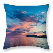 Afterglow On The Lakeshore Throw Pillow