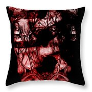 Afterimage Neutral Throw Pillow