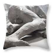 Aftermath Of Mount Vesuvius Throw Pillow