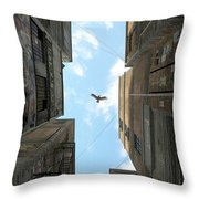Afternoon Alley Throw Pillow