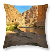 Afternoon At Boquillas Canyon Throw Pillow
