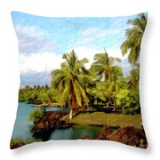 Afternoon At Mauna Lani Hawaii Throw Pillow