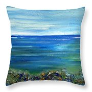 Afternoon At The Beach Throw Pillow