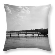 Afternoon At The Pier Throw Pillow