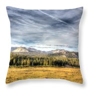 Afternoon Clouds Throw Pillow