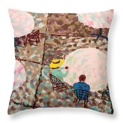 Afternoon Coffee In New York City Throw Pillow