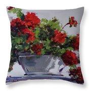 Afternoon Geraniums Throw Pillow