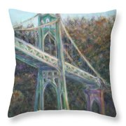 Afternoon Glow On The St Johns Throw Pillow