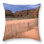 Afternoon In Snow Canyon Throw Pillow