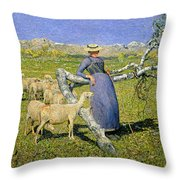 Afternoon In The Alps Throw Pillow