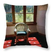 Afternoon In The Solarium Throw Pillow