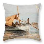 Afternoon In Toulon Throw Pillow