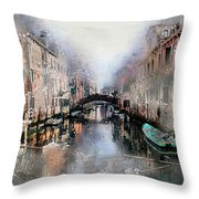 Afternoon In Venice IIi Throw Pillow