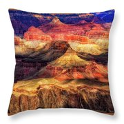Afternoon Light At Mather Point, Grand Canyon Throw Pillow
