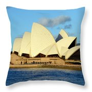 Afternoon Light On The Sydney Opera House Throw Pillow