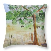 Afternoon On The Farm 2 Throw Pillow