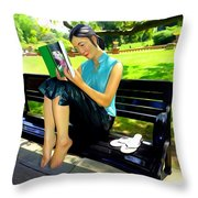 Afternoon Read Throw Pillow