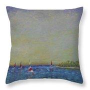 Afternoon Sailing Throw Pillow