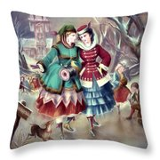 Afternoon Skate Throw Pillow