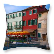 Afternoon Stroll In Murano  Throw Pillow