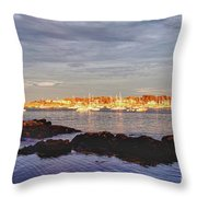 Afternoon Sun On Marblehead Neck Throw Pillow