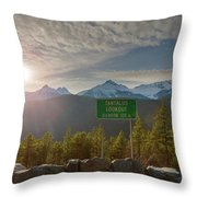 Afternoon Sun Over Tantalus Range From Lookout Throw Pillow