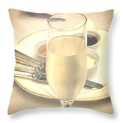 Afternoon Tea With Champagne Throw Pillow