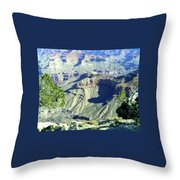 Afternoon View Grand Canyon Throw Pillow