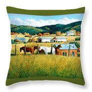 Afternoon Visitors Throw Pillow