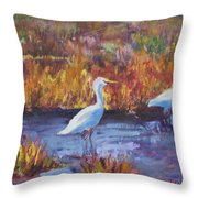 Afternoon Waders Throw Pillow
