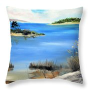 Afternoon Water Throw Pillow