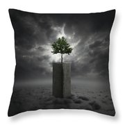Against All Odds Throw Pillow