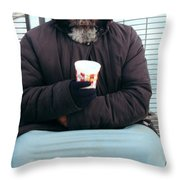 Against The Elements Throw Pillow