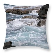 Against The Rocks Throw Pillow