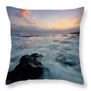 Against The Sea Throw Pillow
