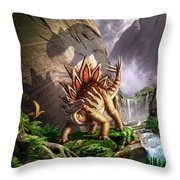 Against The Wall Throw Pillow by Jerry LoFaro