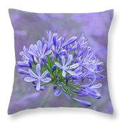 Agapantha Lilac Pastel By Kaye Menner Throw Pillow