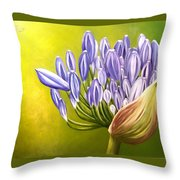 Agapanthos Throw Pillow