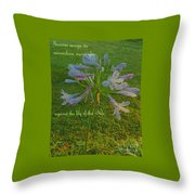 Agapanthus Dawn Throw Pillow