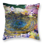 Agape Gardens Autumn Waterfeature II Throw Pillow