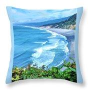 Agate Beach Throw Pillow