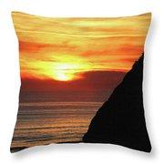 Agate Beach Oregon Throw Pillow