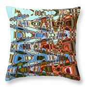 Agate Beach Tree Abstract Throw Pillow