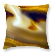 Agate Slice 2 Throw Pillow