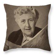 Agatha Christie 3 Throw Pillow