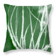Agave- Abstract Art By Linda Woods Throw Pillow